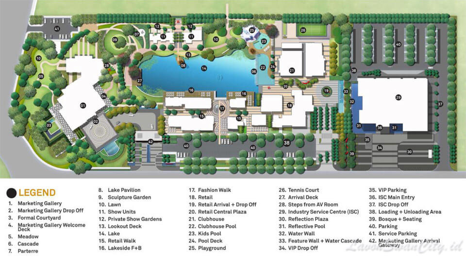 Site Plan Club House Lavon Cikupa