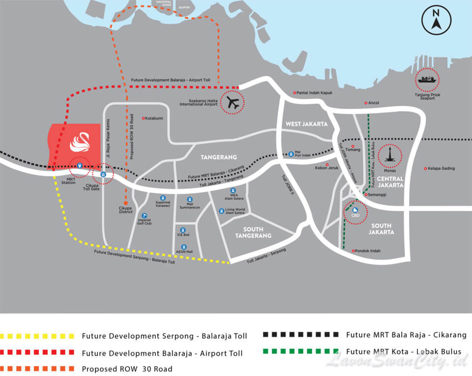 Peta Lokasi Lavon Swan City Cikupa