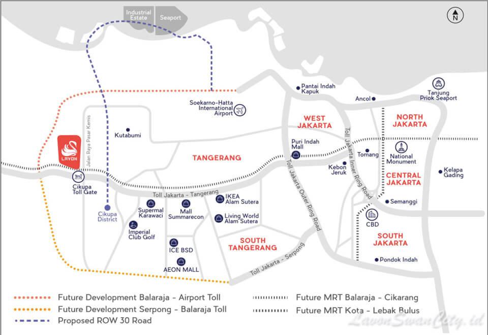Peta Lokasi Lavon Swan City Tangerang