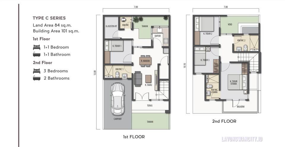 Rumah Cluster Lavisa Lavon Swancity Dijual Type D Series Contoh Gambar Rumah