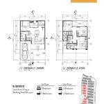 Denah Rumah Cluster Allura @ Lavon Tipe B