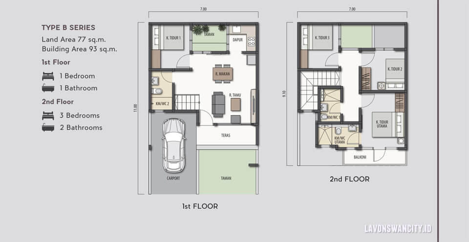 Rumah Lavon SwanCity Tipe D Series