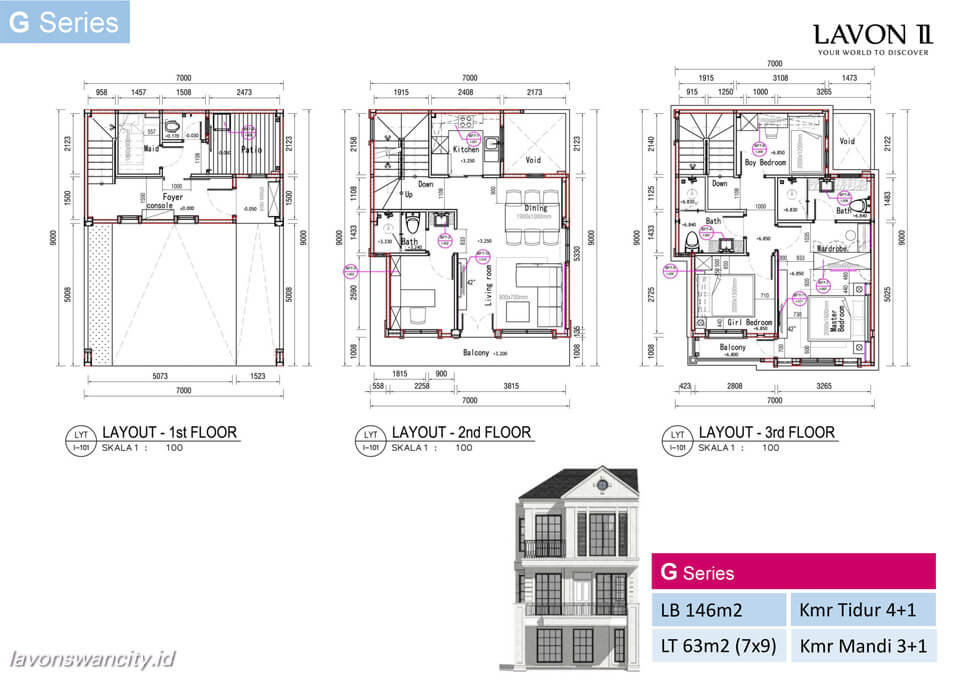 Denah Rumah Lavon 2 G Series