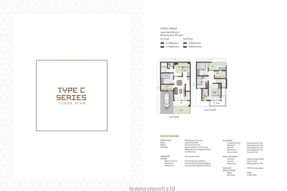 Denah Rumah Cluster Regalia C-Series