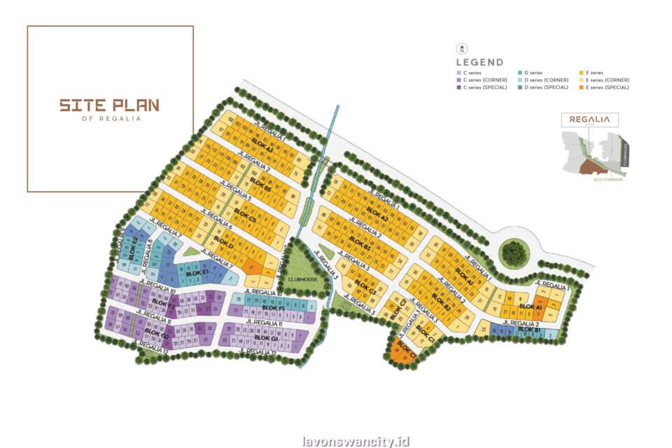 Site Plan Cluster Regalia Lavon