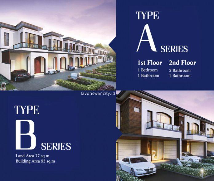 dijual rumah lavon 1 tipe A dan B