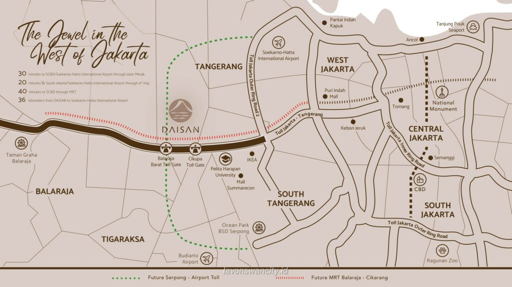 Peta Lokasi Daisan Lavon Swan City