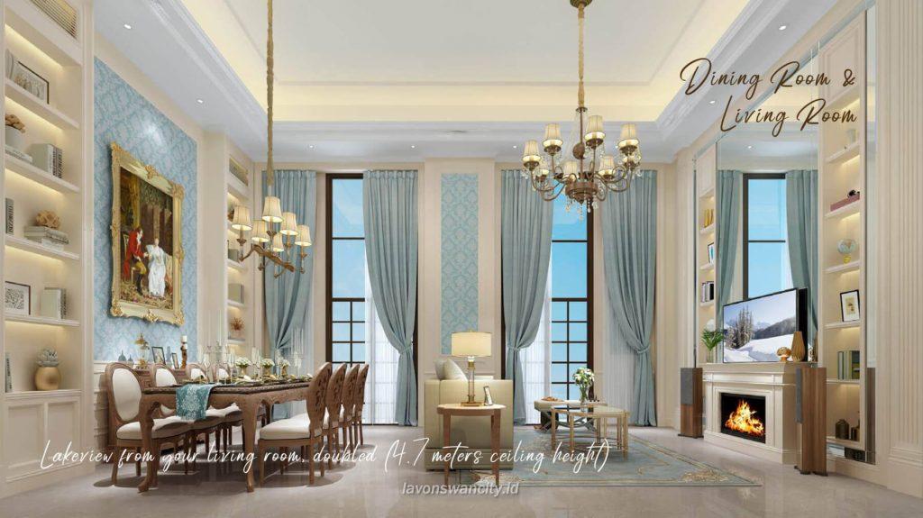 Rumah Cluster Fuji Daisan Lavon 3 - Interior Living & Dining room