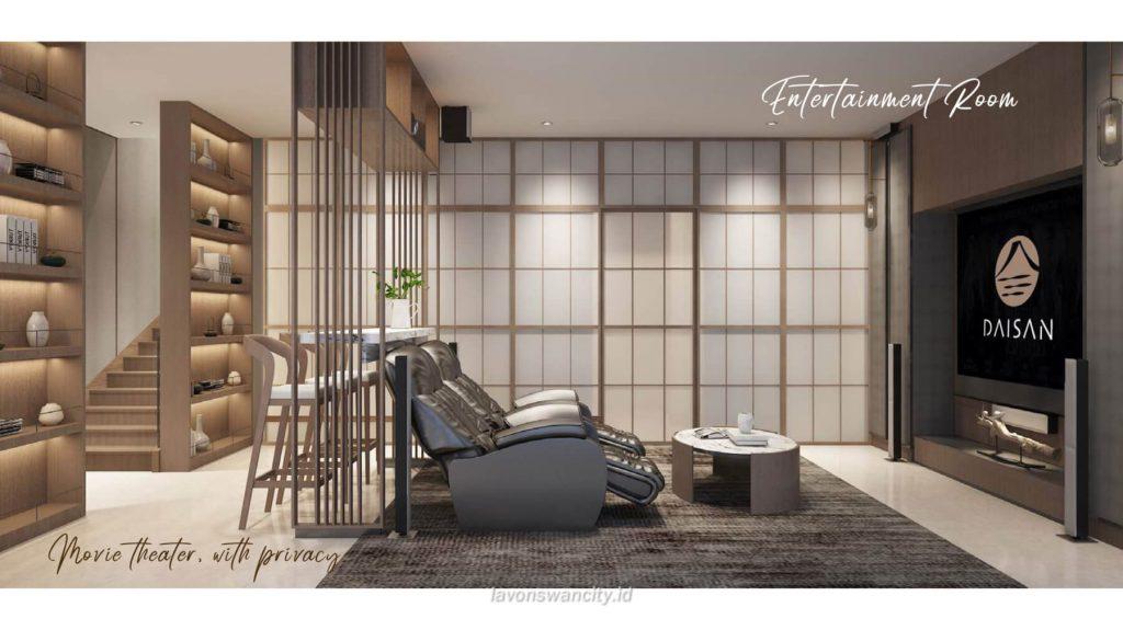 Interior Rumah Cluster Tokyo Daisan Lavon - Entertainment Room