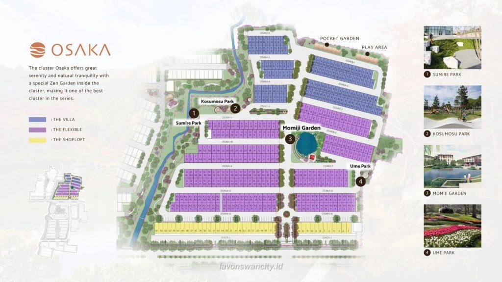 Siteplan Cluster Osaka Daisan Lavon 3